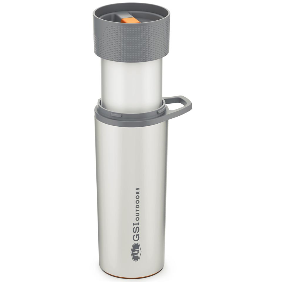 French Press Coffee Mug GSI Outdoors Glacier Stainless Commuter JavaPress