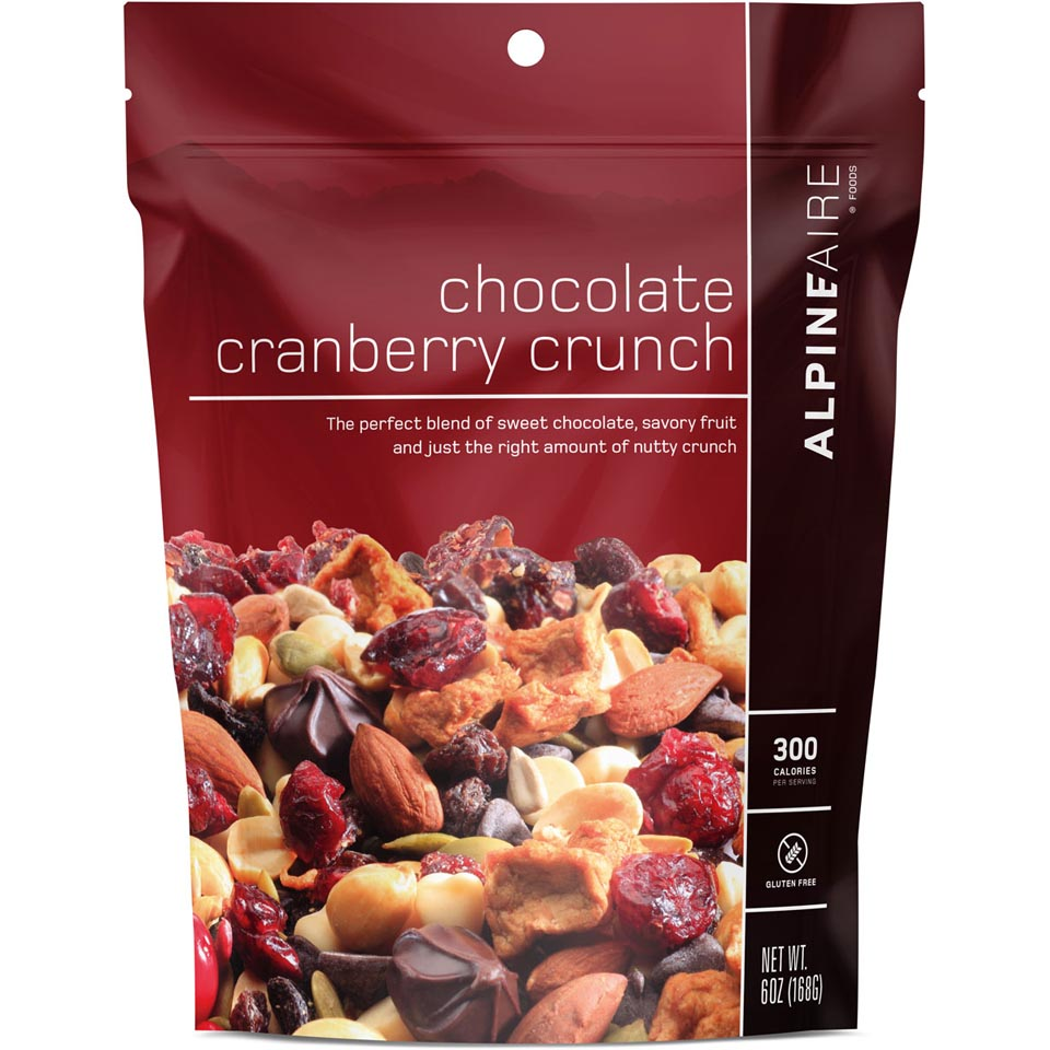 Chocolate Cranberry Crunch Snack Mix
