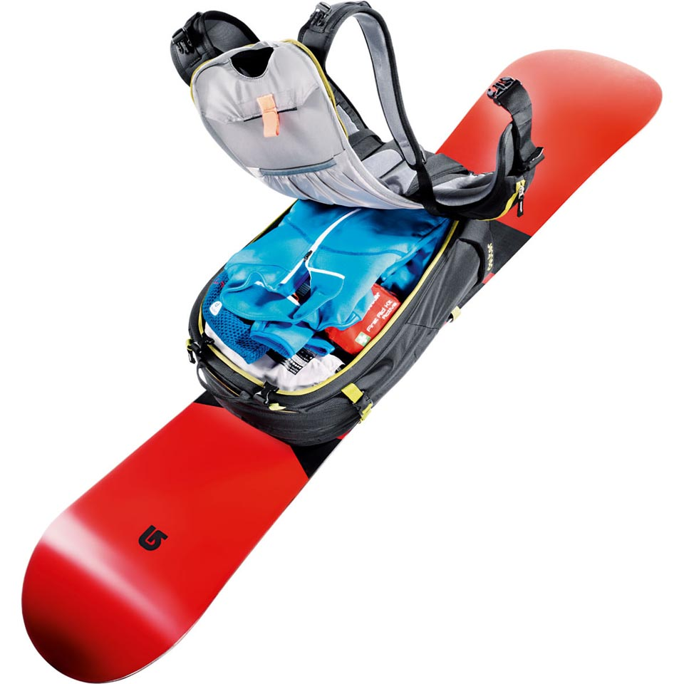 Snowboard and contents not included