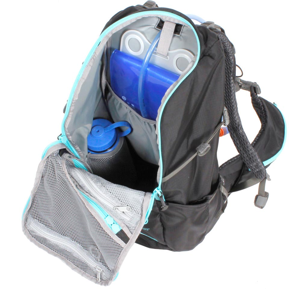 hydration system and water bottle not included