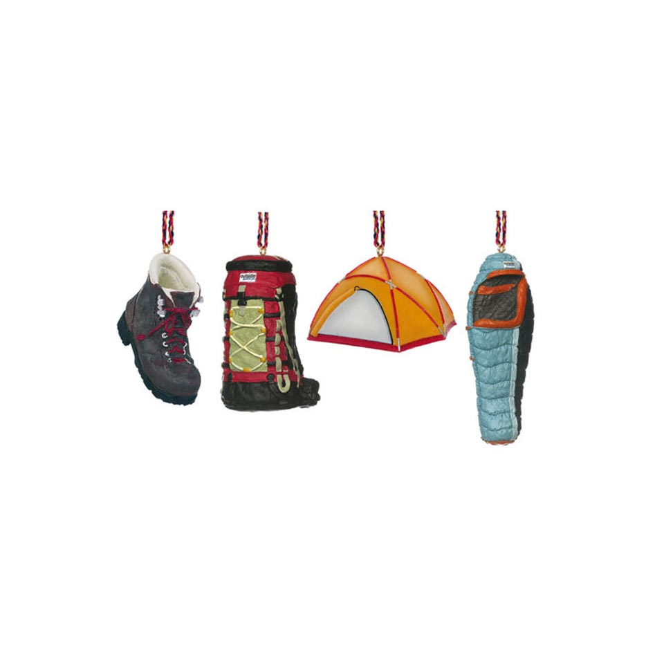 Camping Ornament Set (4 Piece)