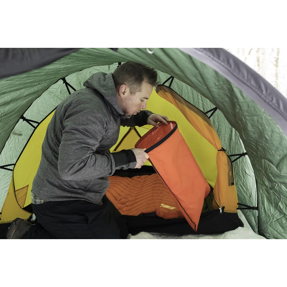 Tent not included