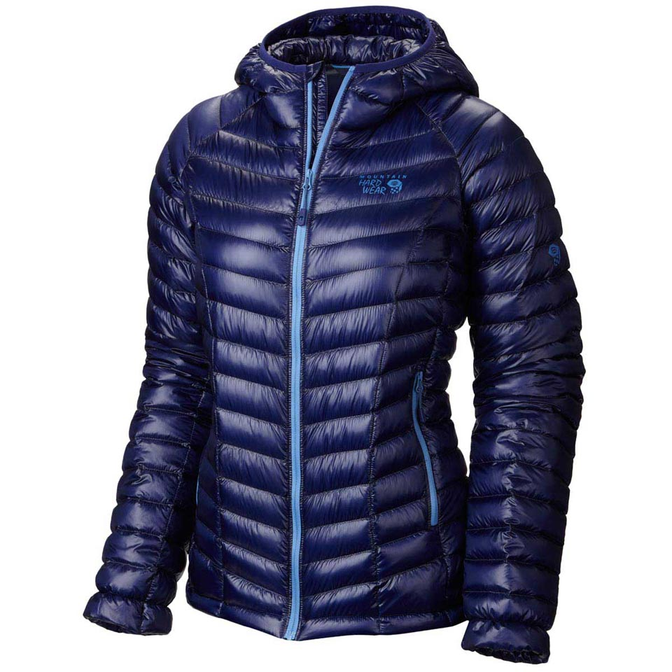 The warmth-to-weight ratio of a jacket is a key measure of value, and a down jacket has the highest warmth-to-weight ratio of any technical insulated jacket. Additional ounces are added or subtracted to a jacket's weight by the fabric and design features.