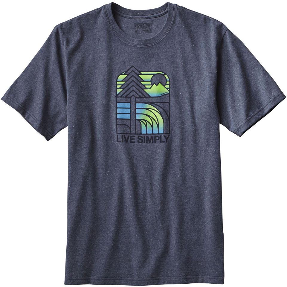 Men's Live Simply Landscape Recycled Cotton/Poly Responsibili-Tee (Close-Out)