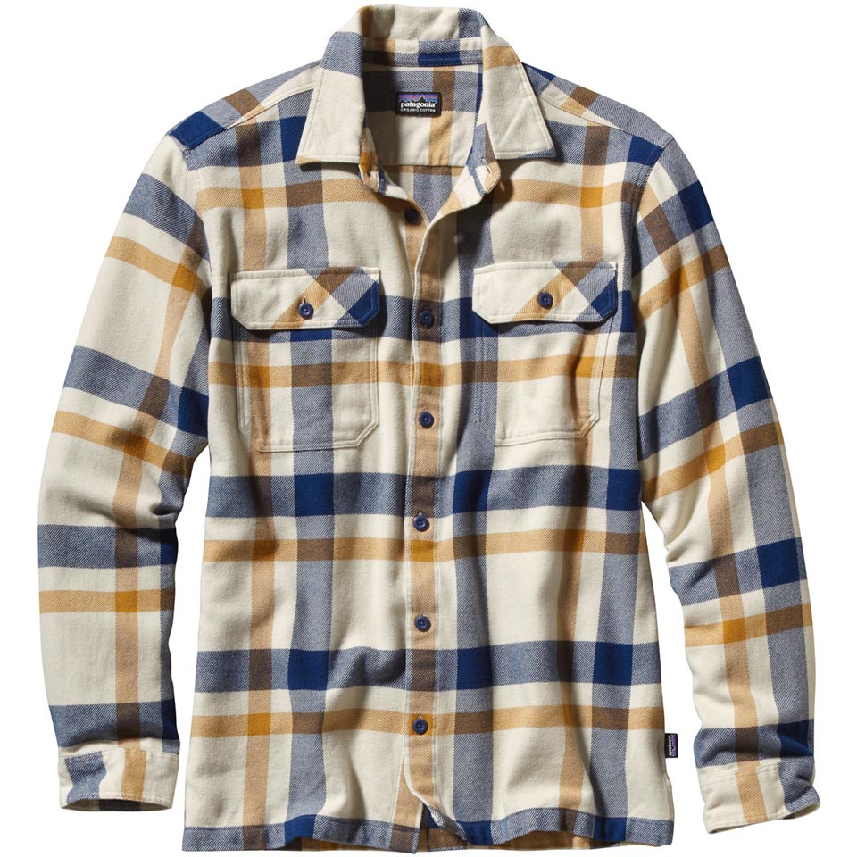 Patagonia Men's Long-Sleeved Fjord Flannel Shirt (2015)