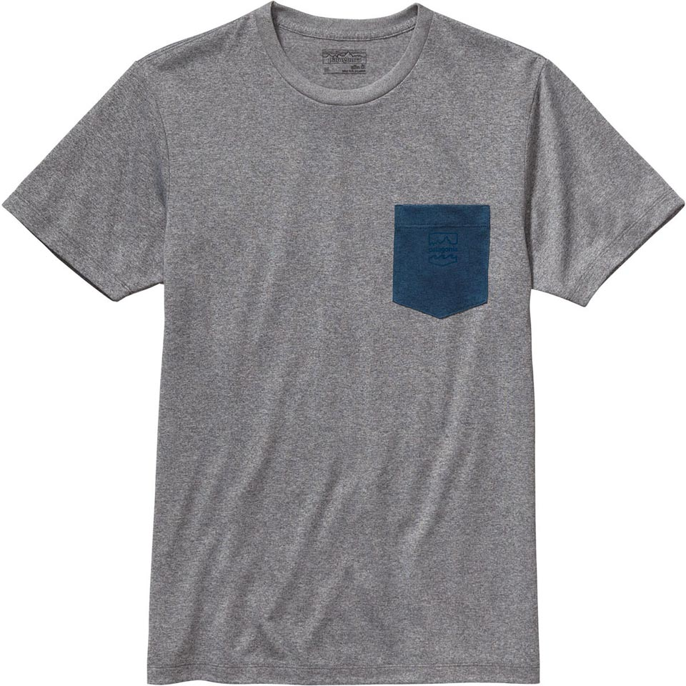 Men's Patagonia Badge Recycled Poly Pocket Responsibili-Tee (Close-Out)