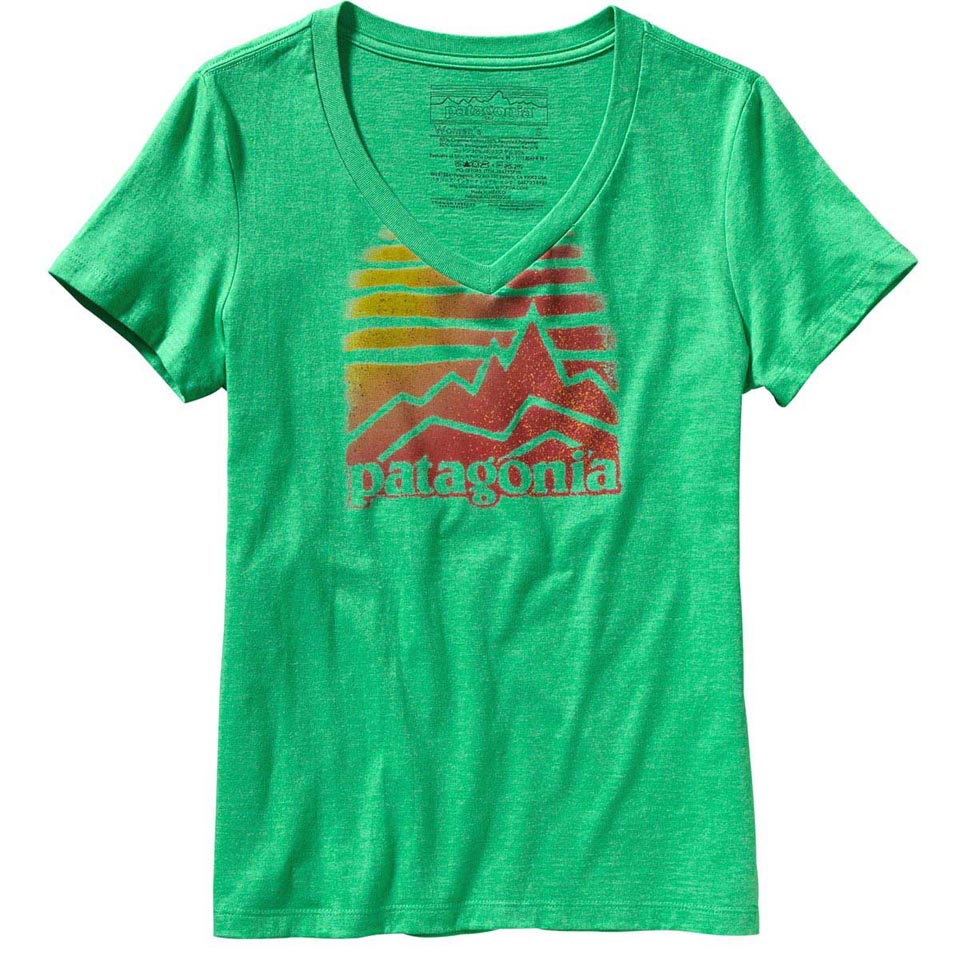 Women's Patagonia Distressed Logo Cotton/Poly T Shirt